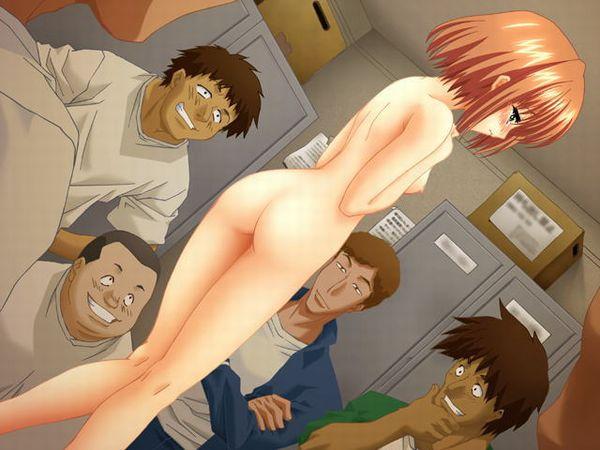 【晒し者】みんなが見ている前で全裸にさせられてる二次エロ画像 【22】