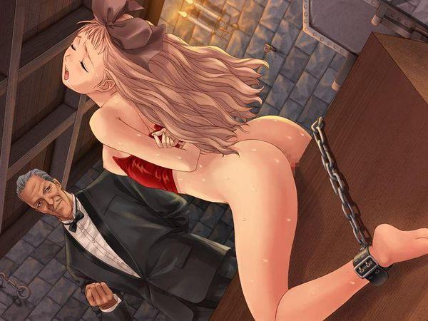 【拷問】三角木馬に乗せられて辛そうな二次エロ画像 【30】