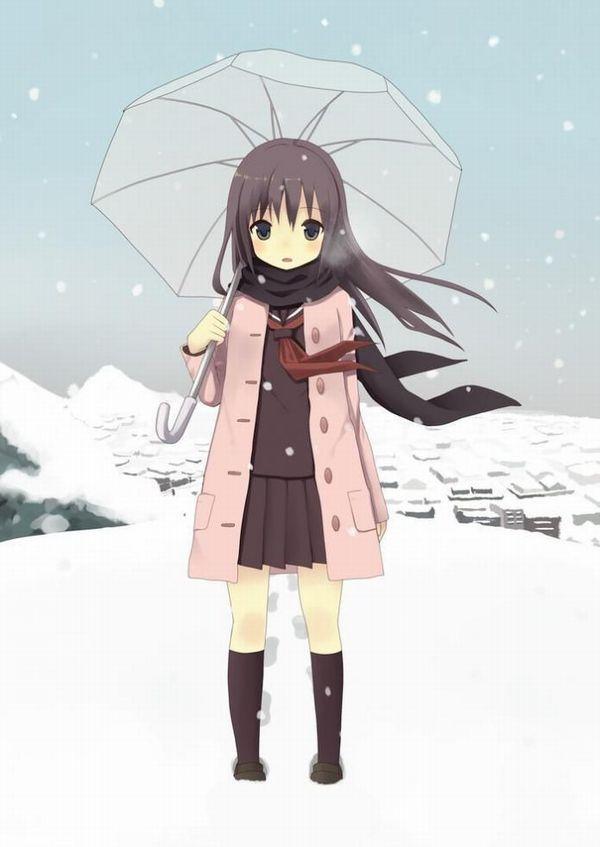 【防寒はバッチリ】冬に登下校する女子高生達の二次画像 【1】