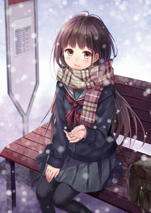 【防寒はバッチリ】冬に登下校する女子高生達の二次画像 【2】