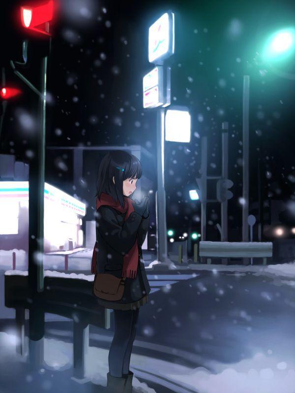 【防寒はバッチリ】冬に登下校する女子高生達の二次画像 【12】