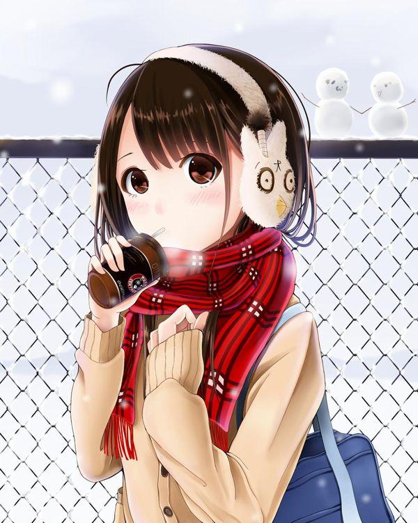 【防寒はバッチリ】冬に登下校する女子高生達の二次画像 【13】