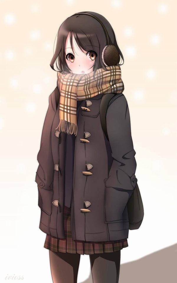 【防寒はバッチリ】冬に登下校する女子高生達の二次画像 【14】