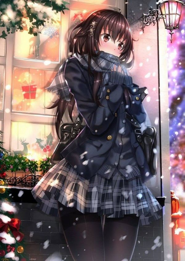 【防寒はバッチリ】冬に登下校する女子高生達の二次画像 【19】