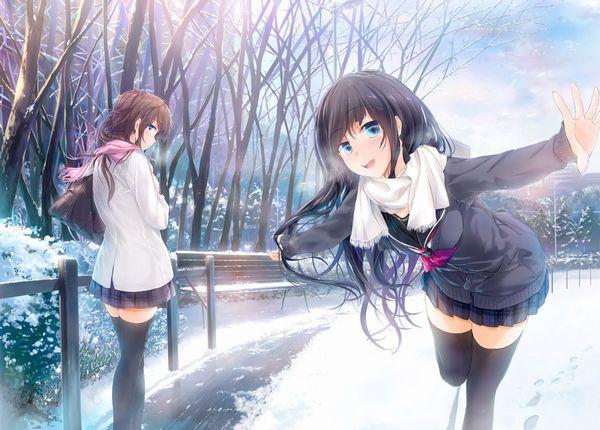 【防寒はバッチリ】冬に登下校する女子高生達の二次画像 【28】