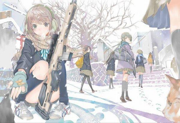 【防寒はバッチリ】冬に登下校する女子高生達の二次画像 【31】