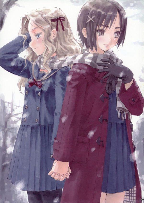 【防寒はバッチリ】冬に登下校する女子高生達の二次画像 【37】