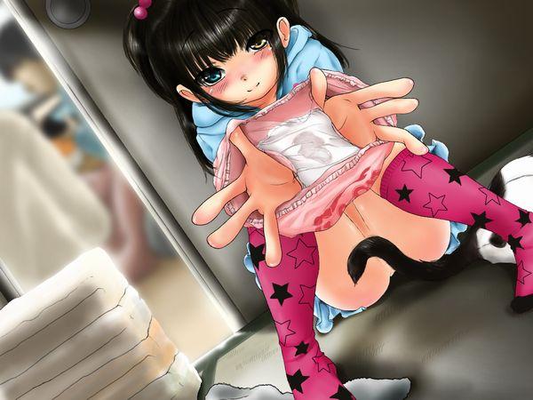 【嗅ぐ?被る?】脱ぎたてシミ付きパンツを差し出す女子達の二次エロ画像 【31】