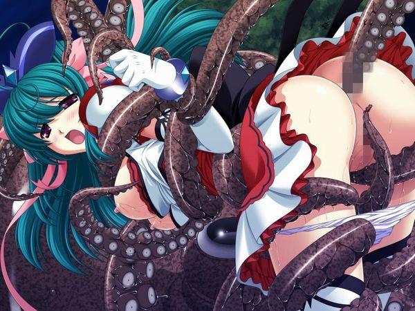【女体と魚介の合わせ技】蛸っぽい触手に犯されてる二次エロ画像 【16】
