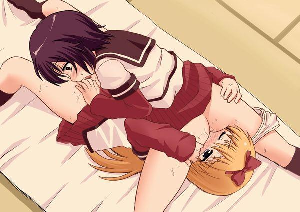 【相互愛撫】女同士でマンコを舐めあうシックスナインの二次エロ画像 【1】