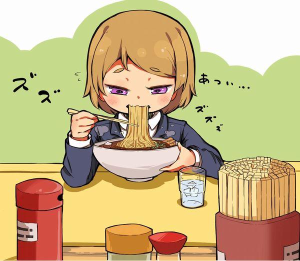 【寒い夜にはラーメン(至言)】ラーメン食べてる女の子達の二次画像【21】