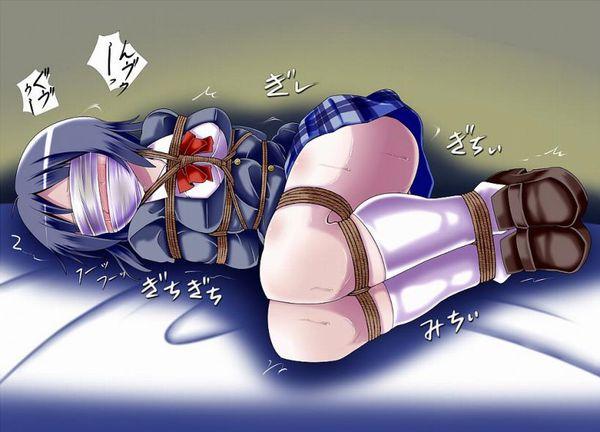 【着衣緊縛】服を着たまま縛られてる女子達の二次エロ画像【29】
