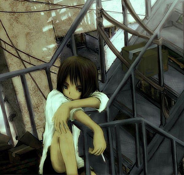 【ちょっと一服】タバコ吸ってる女の子の二次画像 【11】