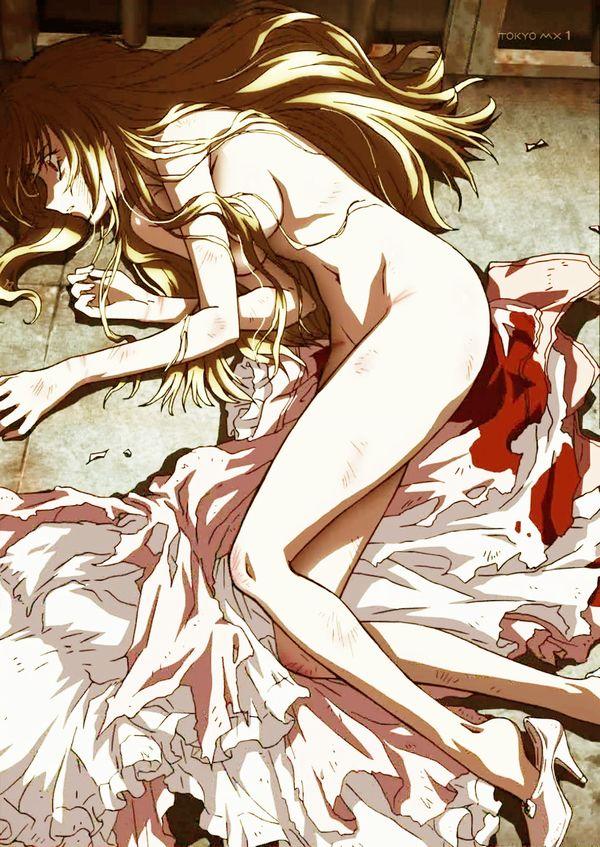 【胸が痛む】レイプされて無残な姿のまま放置されてる二次エロ画像 【16】