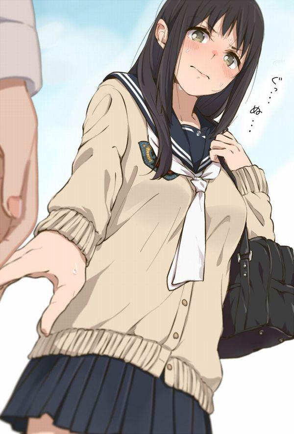 【発育が良い】巨乳JKの制服二次画像 【7】