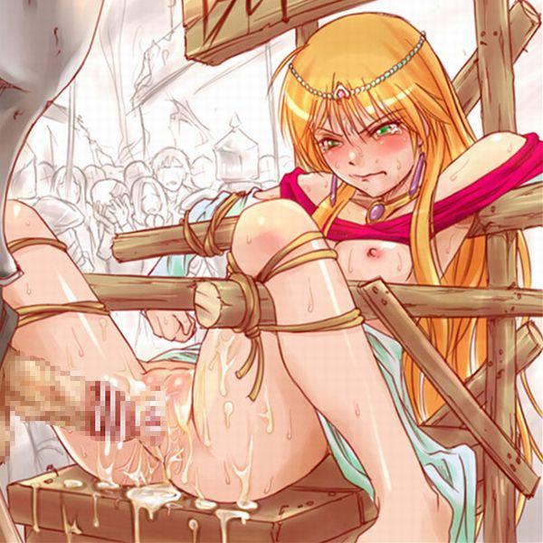【中世あるある】公衆の面前で辱めを受ける女騎士・女剣士等の二次エロ画像