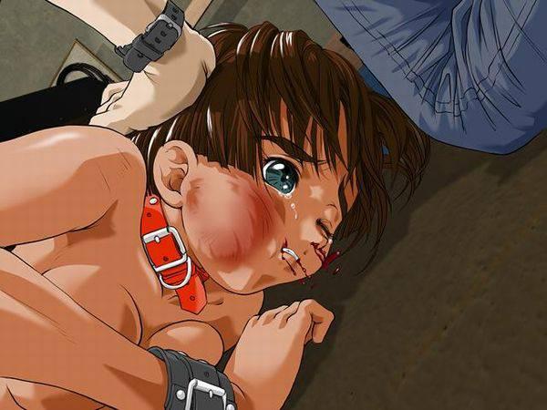 【痛そう】顔の形が変わる位にボコラれてる二次リョナ画像 【15】