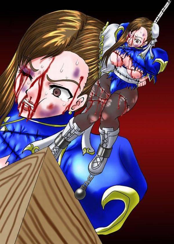 【痛そう】顔の形が変わる位にボコラれてる二次リョナ画像 【32】