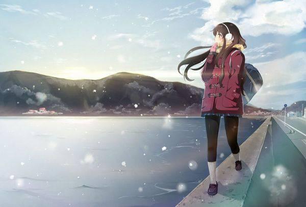 【雪・・強くなってきたな・・】雪の日でも真面目に学校に通う女子高生の二次画像 【2】