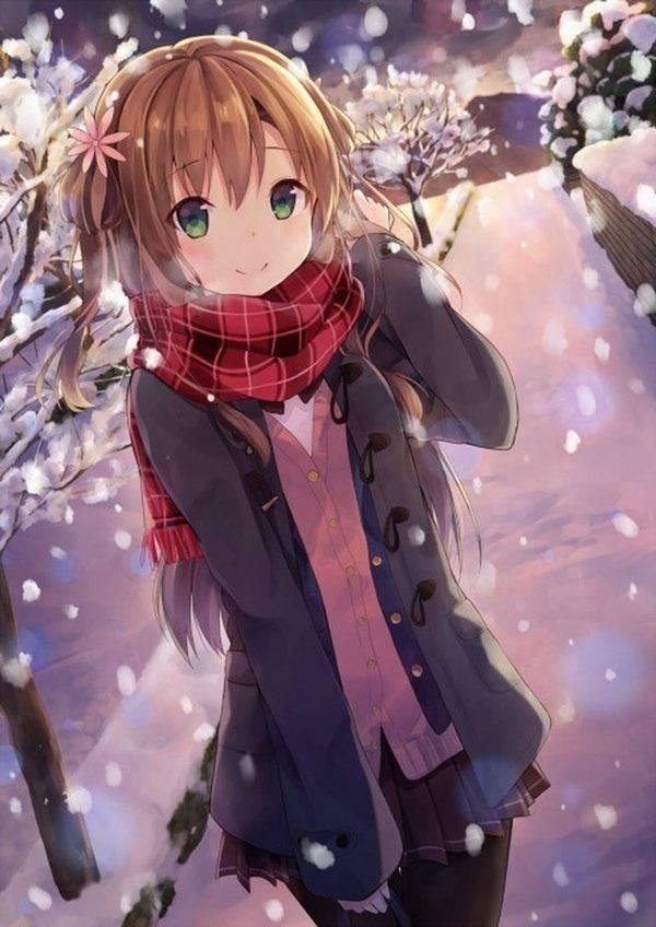 【雪・・強くなってきたな・・】雪の日でも真面目に学校に通う女子高生の二次画像 【6】