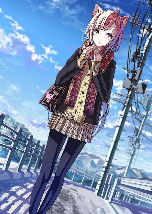 【雪・・強くなってきたな・・】雪の日でも真面目に学校に通う女子高生の二次画像 【7】