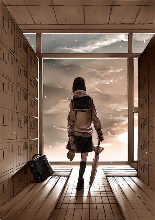 【雪・・強くなってきたな・・】雪の日でも真面目に学校に通う女子高生の二次画像 【8】