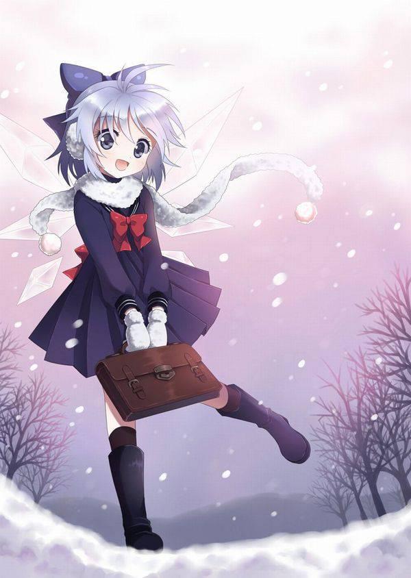 【雪・・強くなってきたな・・】雪の日でも真面目に学校に通う女子高生の二次画像 【9】