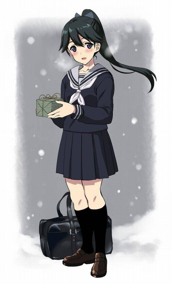 【雪・・強くなってきたな・・】雪の日でも真面目に学校に通う女子高生の二次画像 【18】