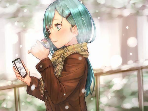 【雪・・強くなってきたな・・】雪の日でも真面目に学校に通う女子高生の二次画像 【23】