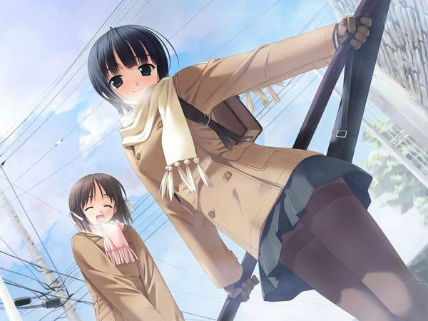 【雪・・強くなってきたな・・】雪の日でも真面目に学校に通う女子高生の二次画像 【31】