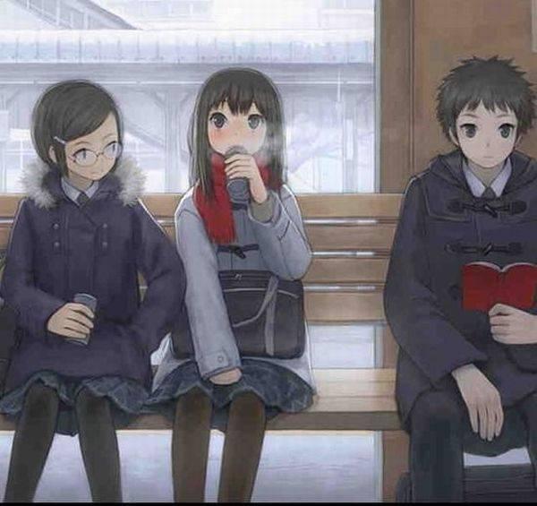 【雪・・強くなってきたな・・】雪の日でも真面目に学校に通う女子高生の二次画像 【32】