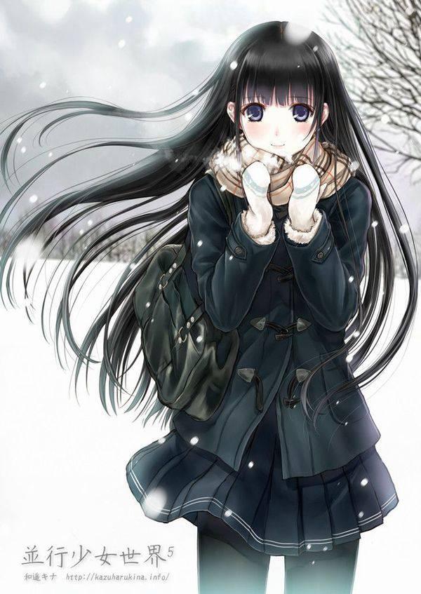 【雪・・強くなってきたな・・】雪の日でも真面目に学校に通う女子高生の二次画像 【35】