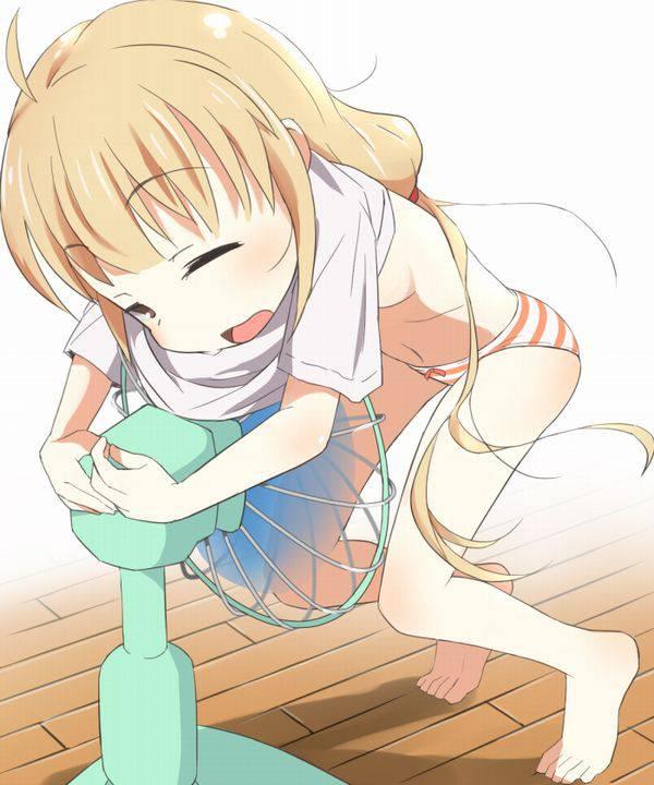 【夏の風物詩】股間に扇風機当てて涼んでる女の子の二次エロ画像 【6】