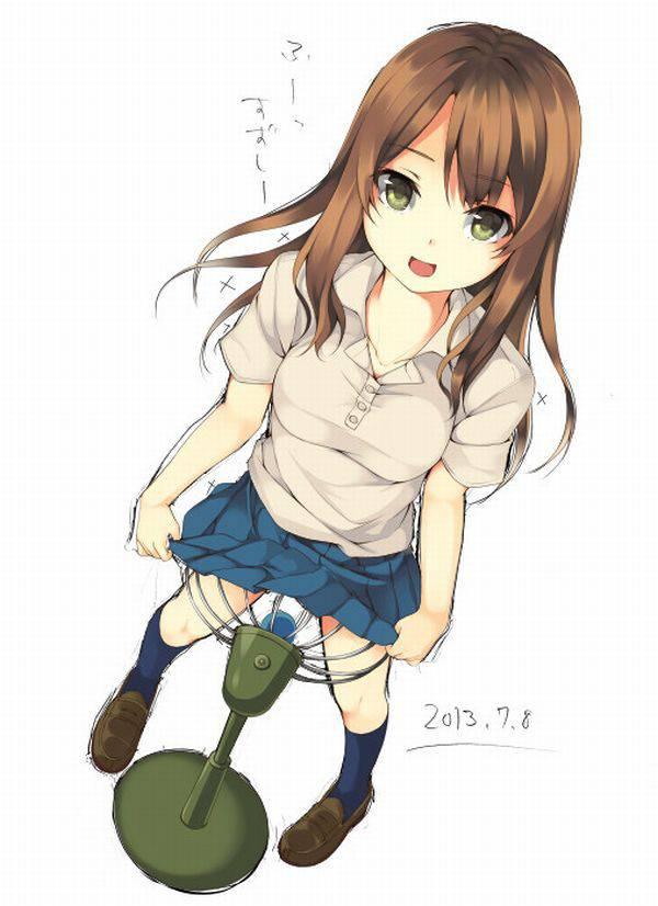 【夏の風物詩】股間に扇風機当てて涼んでる女の子の二次エロ画像 【38】