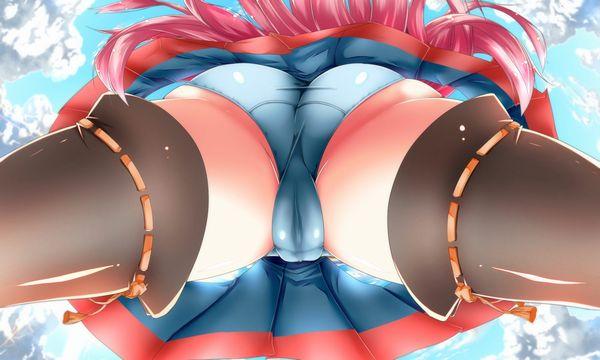 【アスファルトくんは全てを見ていた】真下からパンツを覗く二次ローアングルエロ画像 【28】