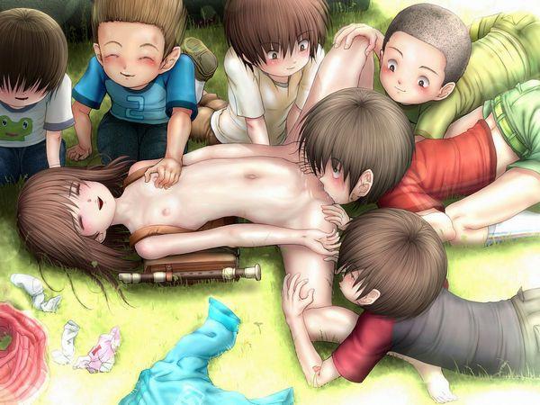 【性の教材】子供達の玩具になってる二次エロ画像 【13】