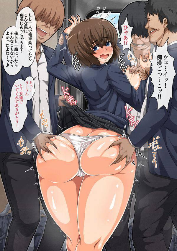 【みのもんた】尻揉み・尻タッチされてる美少女達の二次エロ画像【23】