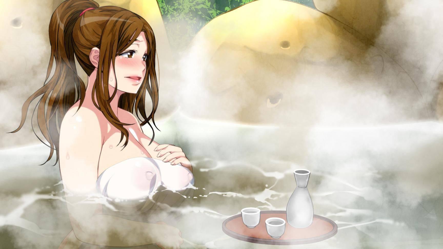 【モヤモヤする】タオルで上手いこと一番見たい部分を隠してる二次お風呂・温泉エロ画像【38】