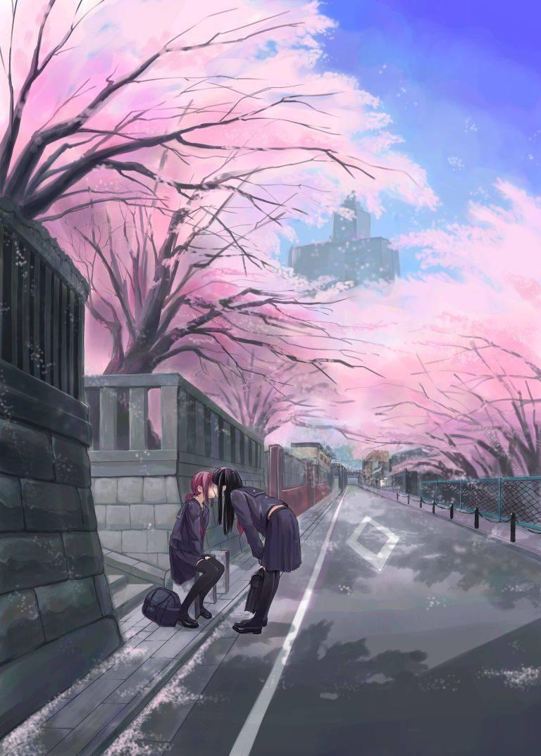 【若気の至り】街中でキスしてる恥知らずなカップル達の二次画像【1】