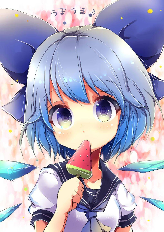 【定番のアイス】スイカバー食べてる女の子達の二次画像【40】