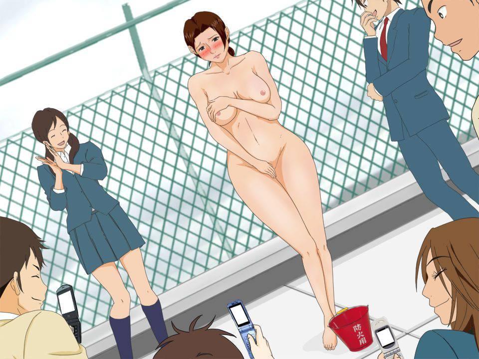 【性的イジメ】みんなの前で晒し者になってる二次エロ画像【40】