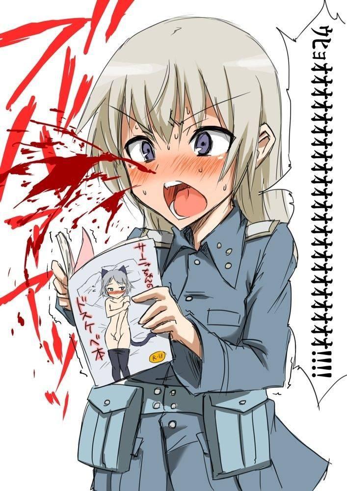 【リアクションが昭和】興奮して鼻血ブーしてる女子達の二次エロ画像【16】