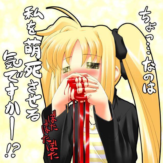 【リアクションが昭和】興奮して鼻血ブーしてる女子達の二次エロ画像【20】