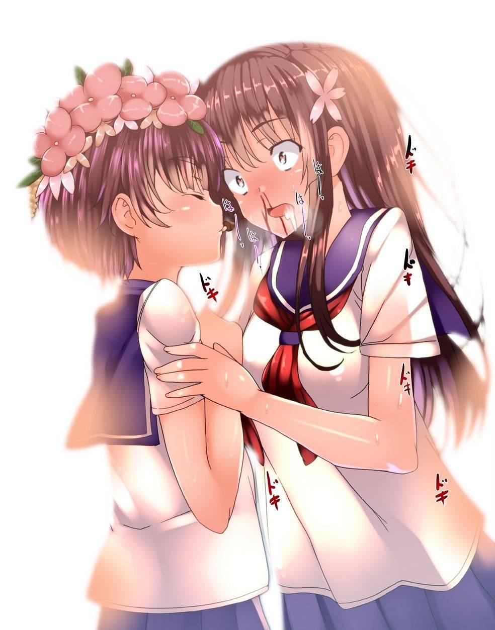 【リアクションが昭和】興奮して鼻血ブーしてる女子達の二次エロ画像【27】