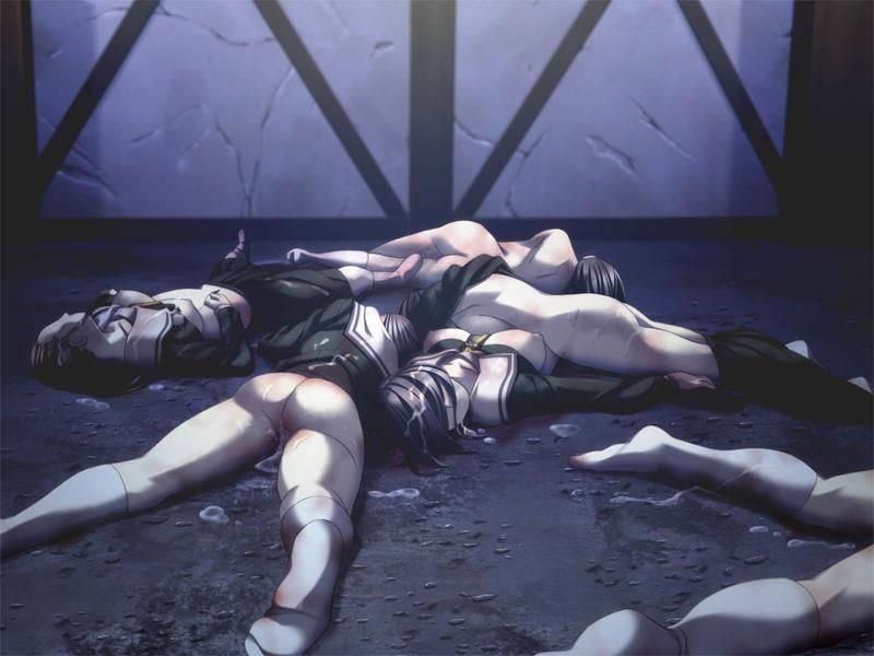【レイプ直後】股間からザーメンを逆流して放心状態・・・悲しい事後の二次エロ画像【39】