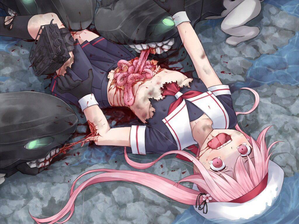 【瀕死】もう少ししたら死ぬんだろうなって状況の二次リョナ・グロ画像【37】
