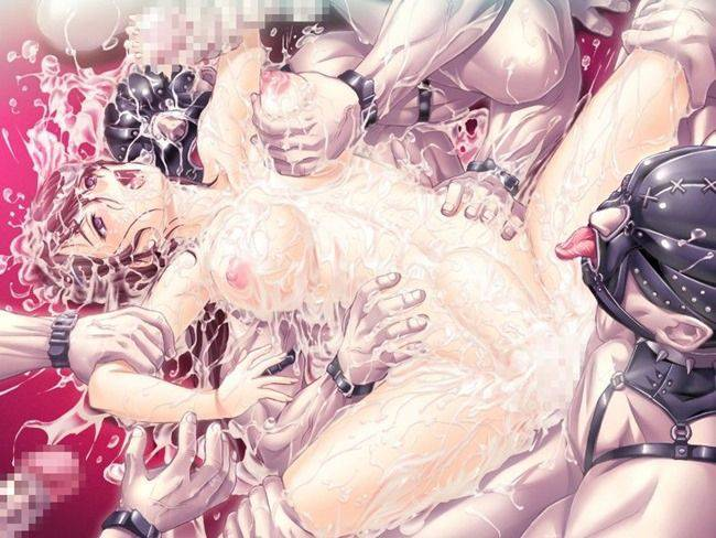 【汁男優】物凄い人数にザーメンぶっかけられて全身ドロドロになってる二次エロ画像【33】