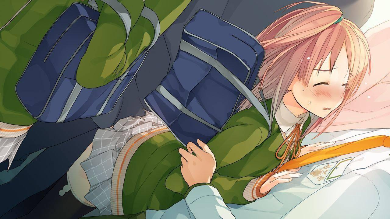【悲惨】満員電車で通学する女子高生が悪質な痴漢被害に遭っている二次JKエロ画像【22】