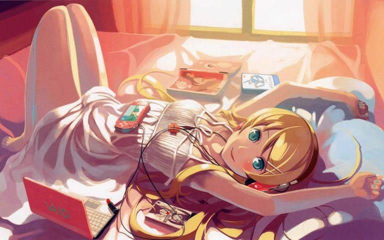 【最近だらしねぇな】散らかったベッドの上でくつろぐ女子達の二次画像【13】