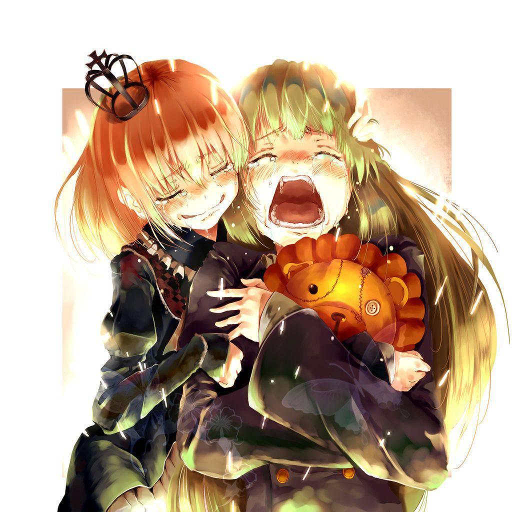 【もらい泣きしそう】号泣してる女の子の二次画像